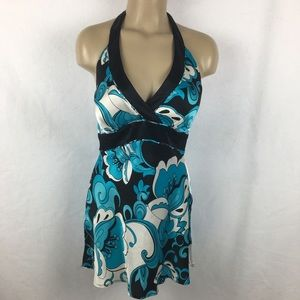 Cache Silk Print Sleeveless Halter Top 8